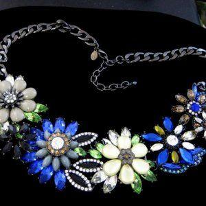 🌺🌼Joan Rivers Jeweled Blossoms Necklace NIB
